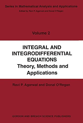 Integral and Integrodifferential Equations (Mathematical Analysis and Applications Book 2) (English Edition)