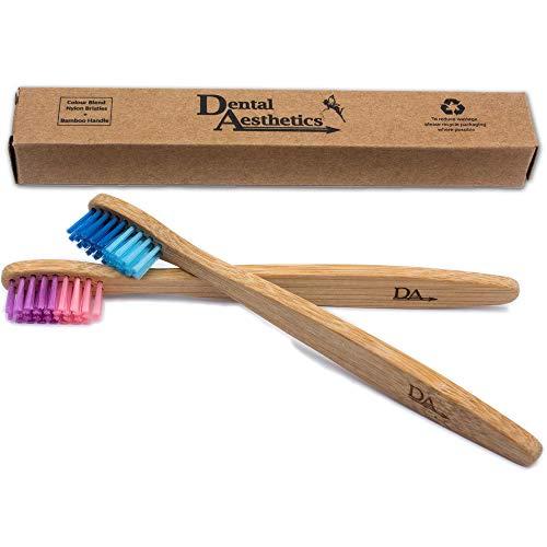 Cepillo Dental Bambú Niños ~ Degradado Color Rosado