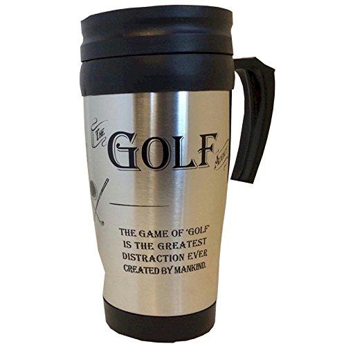 Ultimate Gift For a Man Die Golf Addict Travel Mug-Thermobecher Edelstahl Golf Ultimate Travel Mug