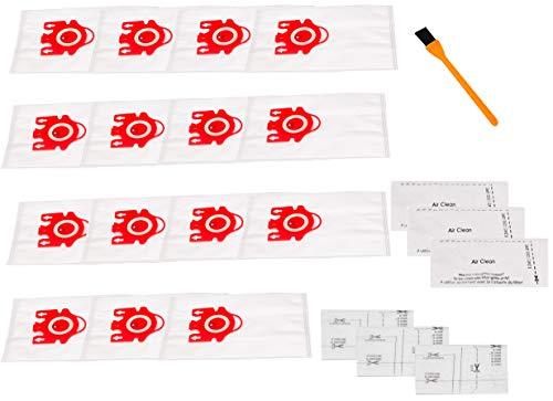 Hongfa Sacs de poussière sous vide Miele FJM, Miele FJM Hyclean Vcumm Sacs pour Miele Compact C2 S6000-S6999 S4000-S4999 Complet C1, Compact C1, S700f