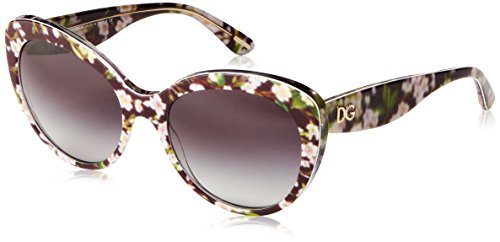 Dolce & Gabbana Damen DG4236 Almond Flowers Collection Sonnenbrille, Schwarz (Black Peach 28428G), One size (Herstellergröße: 56)