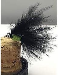 8 St/ück Schwarz Wooly Bugger Forellenfliegen BestCity Fliegenfischen Prime-Kollektion