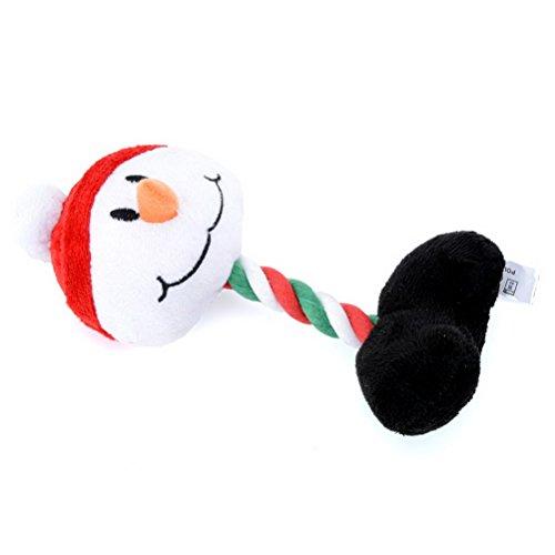 pielzeug für Langeweile Hundespielzeug für Weihnachten Indoor Outdoor Spielen gefüllt Spielzeug für Hund Halloween Urlaub Santa Claus Schneemann Pinguin Rentier ()