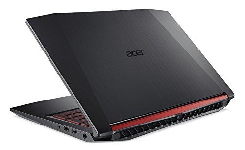Acer Nitro 5 AN515 51 788E 396 cm 156 Zoll entire HD IPS matt Gaming Notebook Intel heart i7 7700HQ 16GB RAM 256GB SSD 1TB HDD GeForce GTX 1050Ti Win 10 schwarz rot Notebooks