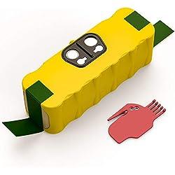 Batterie de Remplacement pour iRobot Roomba, Yaber 4500mAh Ni-MH Batterie Compatible ave Aspirateur iRobot Roomba Séries 500 600 700 800 900