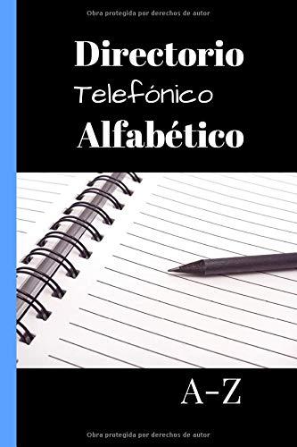 Directorio telefónico alfabético: libreta de direcciones - de tamaño bolsillo - 162 páginas para ser completadas