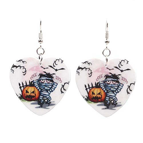Da.Wa Halloween Kürbis Earrings Ghost Festival Party Fledermaus Ohrringe Damen Verkleiden Sich Schmuck (Fledermaus Kürbis Halloween-handwerk)