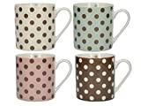 CREATIVE TOPS Katie Alice Cottage Flower Set of 4 Chunky Mugs