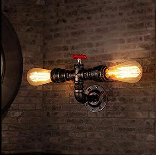 Wandlampe, Retro Cafe Wall Light Industrial Style Persönlichkeit Creative Water Pipe Wall Lampe Für Hot Pot Restaurant Bedroom Stairs