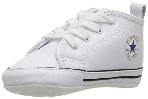 Converse First Star Cuir 022130-12-3 Unisex - Kinder Sneaker, Weiß (Blanc), 20 EU (Baby Converse Sneakers)