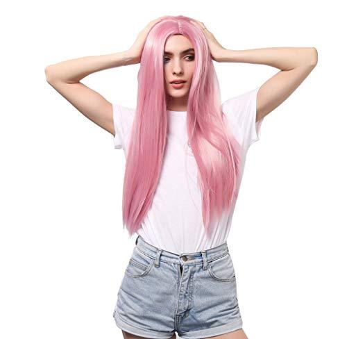 Frauen Lange Glatte Haare Gradienten Perücke Gewellte Party gelockte Synthetische Reizvolle Perücken