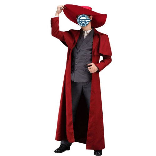 Dream2Reality japanische Anime Hellsing Cosplay Kostuem - Alucard Outfit 1st Ver X-Large (Hellsing Cosplay Kostüm)
