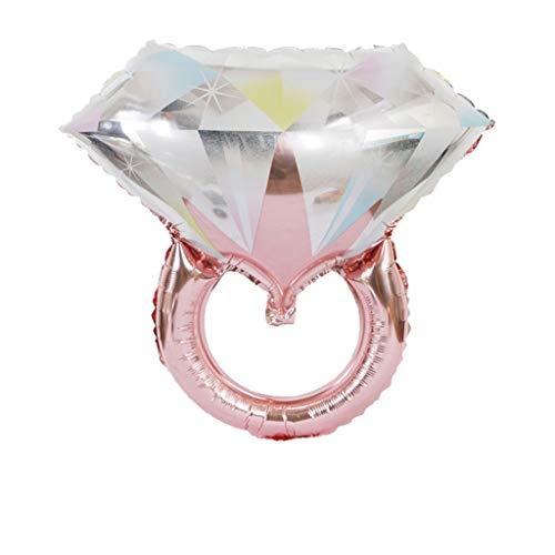 eburtstag Wedding, Riesen-Diamant, Ring in Blattform, Aluminium, aufblasbar, für Hochzeit, Dekoration, Zubehör 8 ()