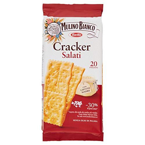 Mulino Bianco Cracker Salati con una Lievitazione Naturale, Snack Salato per la Merenda - 500