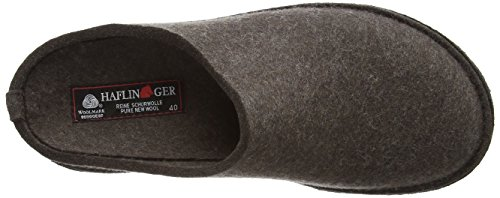 Haflinger Soft 311010, Chaussons mixte adulte Marron (663 Braunmeliert)