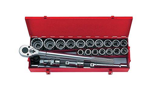 'King Tony 23pc 3/46PT Metric Socket Set Chrome - Chrome Socket Set