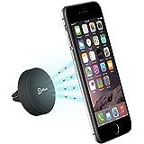 Soporte para Movil, JETech Soporte para Coche Soporte de smartphone Móvil para iPhone 6 / 6 Plus / 5 / 5S / 5C / 4 / 4S, Samsung Galaxy S6 / S5 / S4 / Note 4/3, Google Nexus, LG G3 y dispositivo GPS (Negro) - 2064