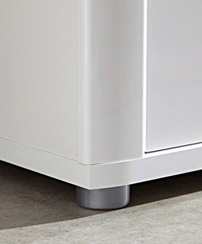 Sideboard in Hochglanz weiß, 2 Türen, 3 Schubkästen, 2 Einlegeböden, Maße: B/H/T ca. 180/90/43 cm - 2