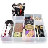 O-Life Smart Blöcke, Set an 6 Stapelbaren Lagerungs-Organizer - Mehrzweck 4 Größen Persönlicher Organizer für Schreibtisch, Badezimmer, Küche, Handwerk, Frisiertisch und Schublade