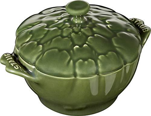 Staub 40500-326 Petite Artischocke Cocotte, Keramik, 454 ml, Basilikum Petite Cocotte