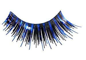 Eulenspiegel 000182 - pestañas artificiales - Negro/Azul - 2 x 1 piezas