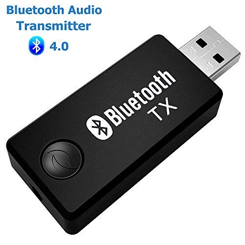 ARTBEST Wireless Bluetooth Transmitter, Stereo Music Stream Video Portable USB Dongle Audio Adapter Pair with Receiver for Car TV Computer Laptop Home Audio System (Tv-computer-adapter)