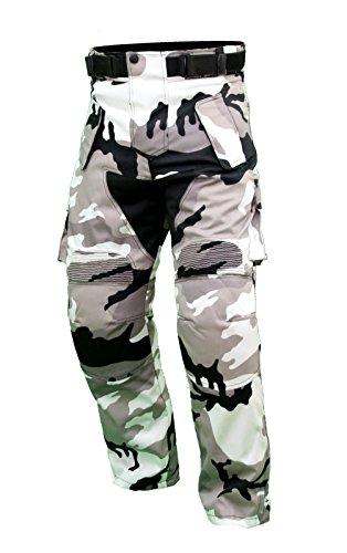 KT301Motorradhose, für Quad, geflochtenes Textil, grau, in Cordura Militär-Uniform