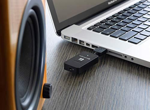 Audioengine W3 Wireless DAC System (Sender + Empfänger) analoge und Digitale Übertragung 10 Meter Reichweite für Multi Room -