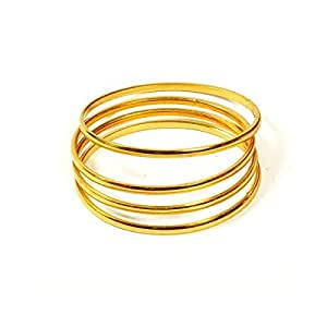 Jewbang gold plated bangles 112Size set for kids and children JB438