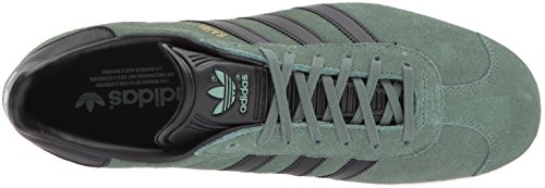 Adidas Mens Gazelle Suede Trainers Trace Green Core Black