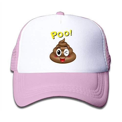 Mbefore Poo Emoji Einstellbare Truck Driver Hat Baseball Cap Geeignet für Jungen und Mädchen (Einstellbar Tuch Rack)