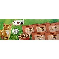 Kitekat Katzenfutter Frischebeutel Mix, Bunte Vierfalt in Sauce, Nassfutter Multipack für Katzen, 48 x 100 g Portionsbeuteln, Huhn, Rind, Ente, Lachs