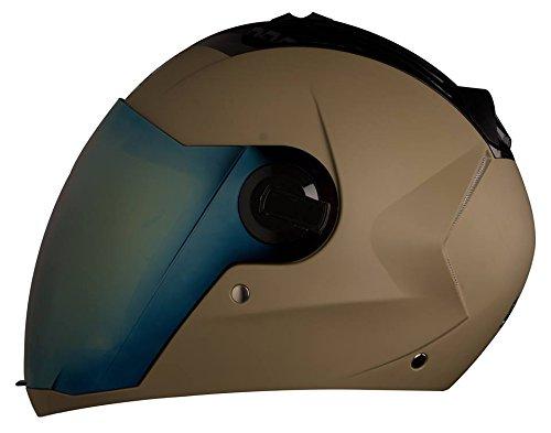 Steelbird Sba-2 Full Face Helmet(Dull Desert Storm,L)Free Transparent Visor For Night Vision(Large- 600Mm,580Mm Black Golden Visor) & Pollution Mask