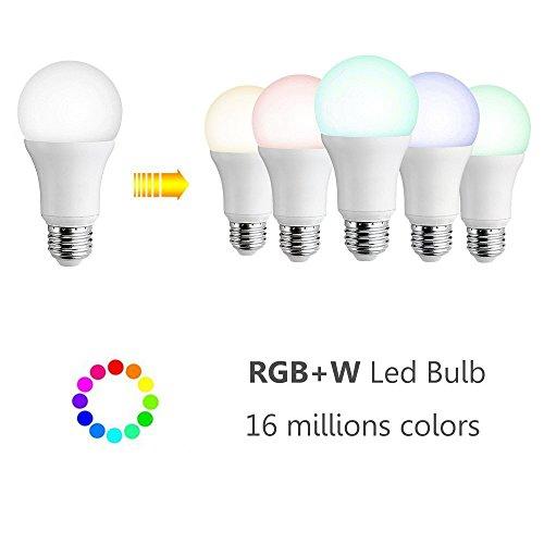 Smart LED Wifi lampe,MEAMOR 7W Dimmbar Glühbirne RGB+Warmweiß E27 Birne Mit Alexa und Google Home,Steuerbar via App,60W äquivalent[Energieklasse A+] - 2