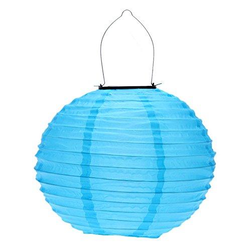 TOOGOO(R) 10 'Lanternes solaires Lanterne solaire de route pour la decoration de jardin Bleu