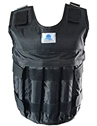 Formación Chaleco de peso ajustable ejercicio Fitness chaleco de peso 20kg 44Lbs negro