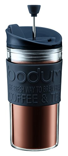 Bodum Travel Press Set Coffee Maker with Extra Lid, 0.35 L/12 oz - Black Test
