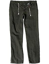 JP 1880 Herren große Größen | Leinenhose aus Leinenmix | Elastikbund mit Bindeband | Knopf und Zipper | etwas tiefere Leibhöhe | bis Größe 70 | 714303