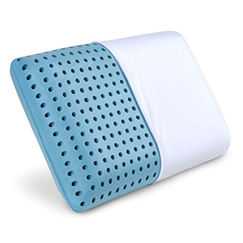 PharMeDoc Oreiller en Mousse à mémoire, infusé avec Un Gel rafraîchissant, Oreiller orthopédique, Housse Amovible Lavable à la Machine Memory Foam Pillow Infused with Cooling Gel