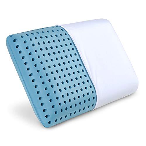 PharMeDoc Oreiller en Mousse à mémoire, infusé avec Un Gel rafraîchissant, Oreiller orthopédique, Housse Amovible Lavable à la Machine Memory Foam Pillow Infused with Cooling Gel