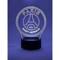 Oficial Escudo del Paris Saint-Germain FC Lámpara Led Original Accesorios de 2018-2019