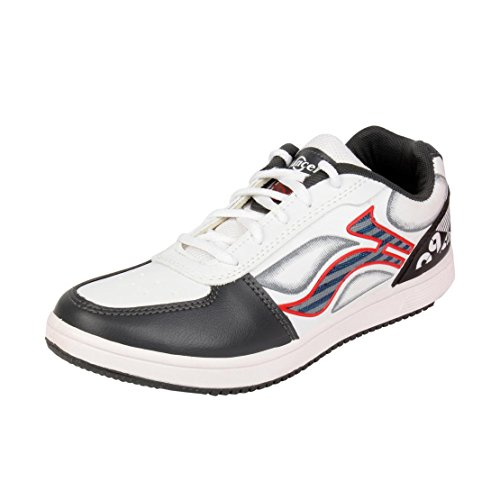 Lancer Men's Grey Synthetic Running Shoes (TS-1 WHT-DGR-RED-41) - (7 UK)  available at amazon for Rs.339
