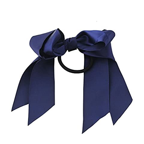 Noeud Papillon Ruban de Satin Bande de Cheveux Elastique -