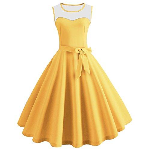 Qmber T-Shirt Kurzarm Oberteile Kreuz Hemd Tops Damen Frauen beiläufige Sleeveless Oberseiten Sommer /X5-Yellow,S - Mini Womens Heels