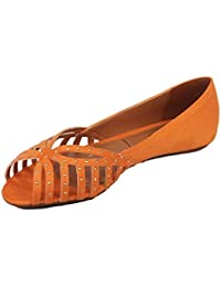 Moda Brasil Suede Flex Red Fashion Sandals For Women