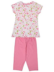 7764380d71c Smarty Girl s Pure Cotton Half Sleeves Night Suit Pyjama Set ...