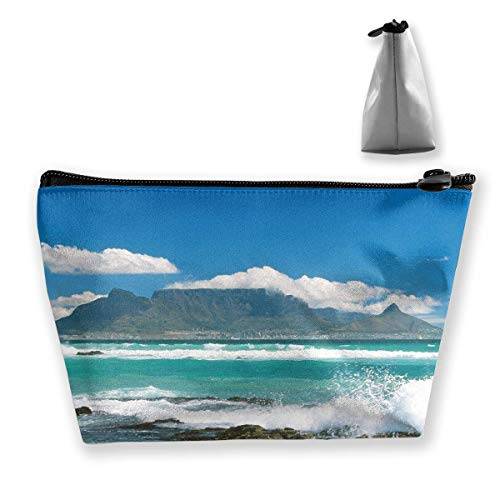 Womens Cosmetic Bag Island Wave Multifunction Makeup Portable Pouch Handbag Receive Bag,Trapezoid