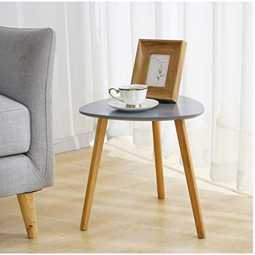 M-JH Table d'appoint, Table Basse de Table d'appoint de Table d'appoint en Bois Massif, Facile à Assembler Salon Polyvalent (Couleur : Gray, Taille : 55CM)