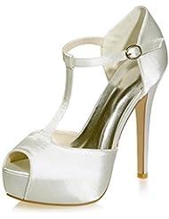 Ei&iLI Zapatos Peep Toe sandalias de boda de las mujeres / fiesta y zapatos de noche de la boda más colores disponibles , gold , 38