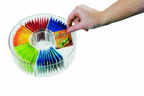 MEPAL Vorratsdose Teebeutel Rund, Plastik, Acryl, 20 x 7.9 cm, 1 Einheiten